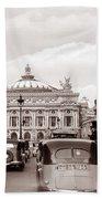 Paris Opera 1935 Sepia Bath Towel