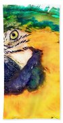 Parrot Ara Watercolor Painting Bath Towel