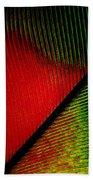 Parrot Feather Macro Bath Towel