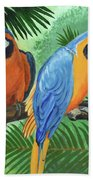 Parrots In Light And Shade Bath Towel