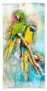 Parrots Bath Towel