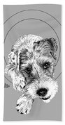 Parson Russell Terrier @elmo.parson Hand Towel