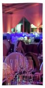 Party Setting With Colorful Bokeh Background Bath Towel