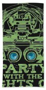 Party With The Lights Off Bath Towel by TortureLord Art