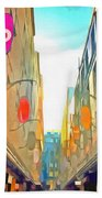 Passage Between Colorful Buildings Bath Towel