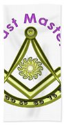 Past Master In White Bath Towel