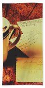 Past Postcard Preoccupations  Hand Towel