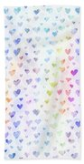 Pastel Hearts Bath Towel
