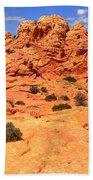 Pastel Petrified Sand Dunes Bath Towel