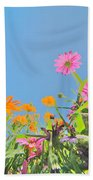 Pastel Poppies Bath Towel