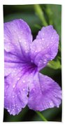 Pastel Purple With Raindrops Bath Towel