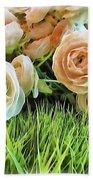 Pastel Roses Bath Towel