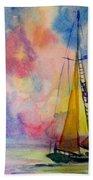 Pastel Sail Bath Towel
