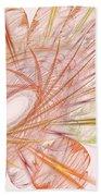 Pastel Spiral Flower Bath Towel