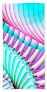 Pastel Spiral Staircase Fractal Bath Towel
