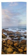 Pastel Tone Seaside Sunrise Bath Towel