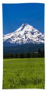 Pasture View Of Mt. Hood Bath Towel