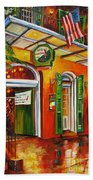 Pat O'brien's Bar On Bourbon Street Bath Towel