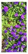 Patch Of Pansies Bath Towel