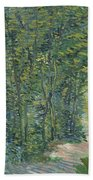Path In The Woods Bath Towel