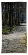 Path In The Woods Of Ireland's Coole Park Hand Towel by James Truett