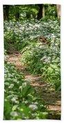 Path Through A Deciduous Forest, Wild Garlic Bath Towel