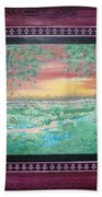 Path To The Pedernales River With Painted Frame Hand Towel