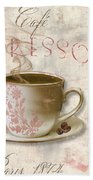 Patisserie Cafe Espresso Bath Towel