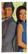 Patrick Macnee And Diana Rigg, The Avengers Bath Towel