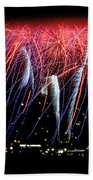 Patriotic Fireworks S F Bay Bath Towel