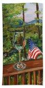 Star Spangled Wine - Fourth Of July - Blue Ridge Mountains Bath Towel