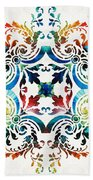 Pattern Art - Color Fusion Design 7 By Sharon Cummings Hand Towel