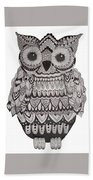 Patterned Owl Bath Towel