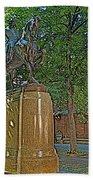 Paul Revere Rides In Boston-massachusetts  Bath Towel