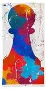 Pawn Chess Piece Paint Splatter Hand Towel