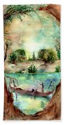 Paysage With A Boat Bath Towel