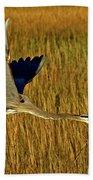 Pb296601 Great Blue Heron Bath Towel