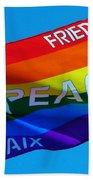 Peace - Paz - Paix Bath Towel