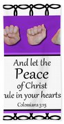 Peace - Bw Graphic Hand Towel