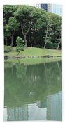 Peaceful Bridge In Tokyo Park Bath Towel
