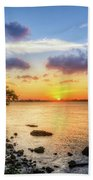 Peaceful Evening On The Waterway Bath Towel