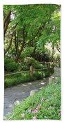 Peaceful Garden Path Bath Towel