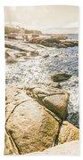 Peaceful Sun Flared Australian Coastline Bath Towel