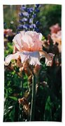 Peach Iris Bath Towel