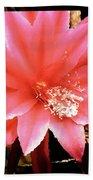 Peachy Pink Cactus Orchid Bath Towel