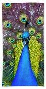 Peacock Art Bath Towel