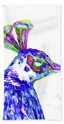 Peacock Closeup Bath Towel