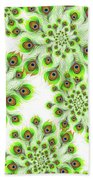 Peacock Feather Abstract Bath Towel