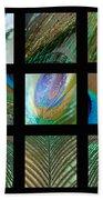 Peacock Feather Mosaic Bath Towel