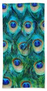 Peacock Feathers Hand Towel by Nikki Marie Smith